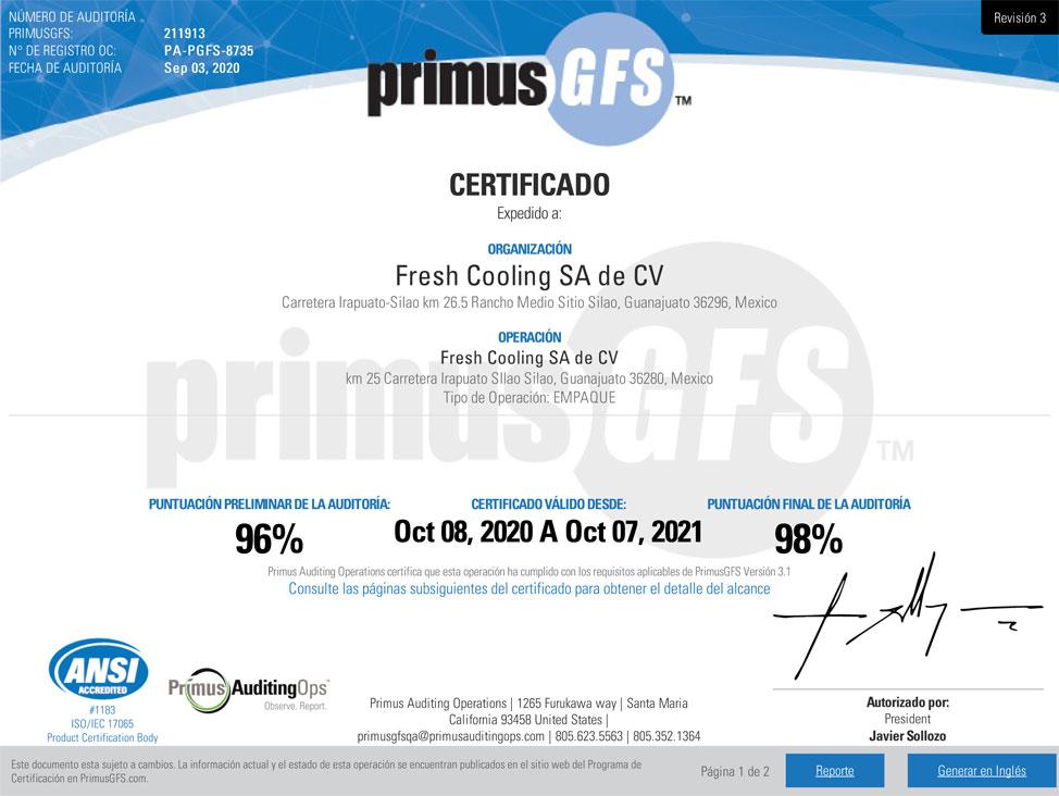 Primus Certification